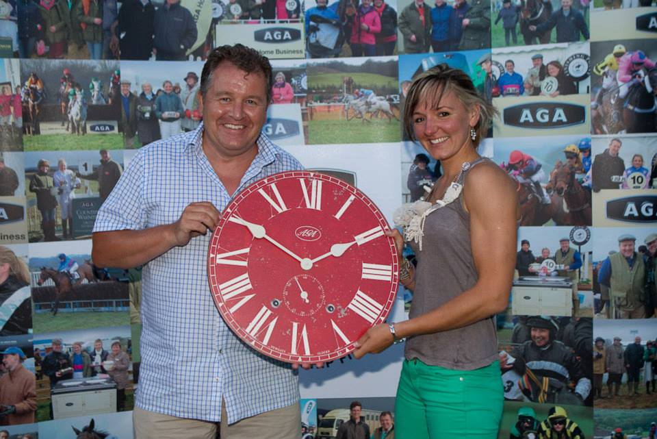 Runner up Hannah Lewis receives her AGA Library clock