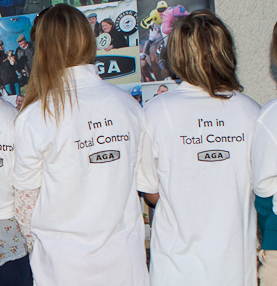AGA ladies 'In Total Control' ... the embroidery will be on the front of the polo shirts this season!