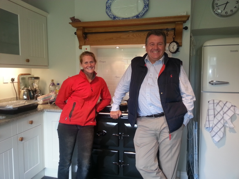 Jane Williams with her new AGA - If you win the AGA I will pop round and lean on it once it has been installed!