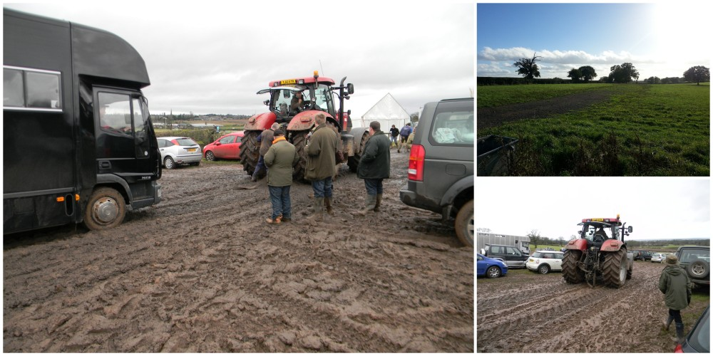 A muddy lorry park ... but they coped!