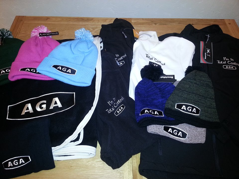 Some of our AGA Point-to-Point goodies for the 2014 season