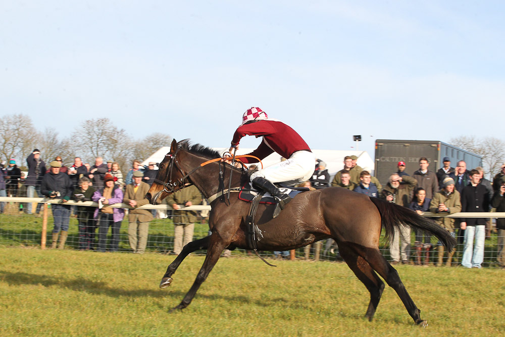 Pampelonne and Sam Davies-Thomas win the Jockey Club Open Mares Maiden  race