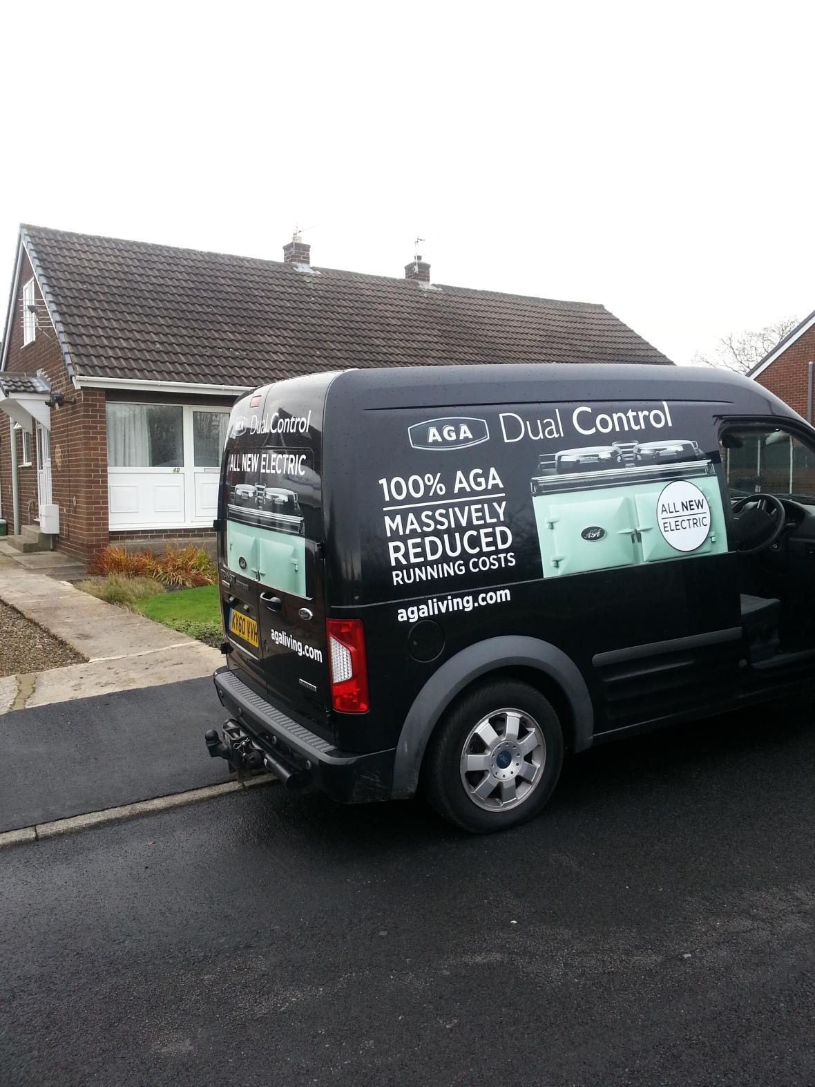 The AGA van pays a visit to Mr & Mrs Simpson (senior)