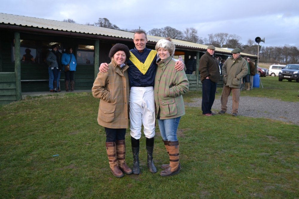 L-R Caroline Smith with brother Richard Smith, and his girlfriend Lizi Scott