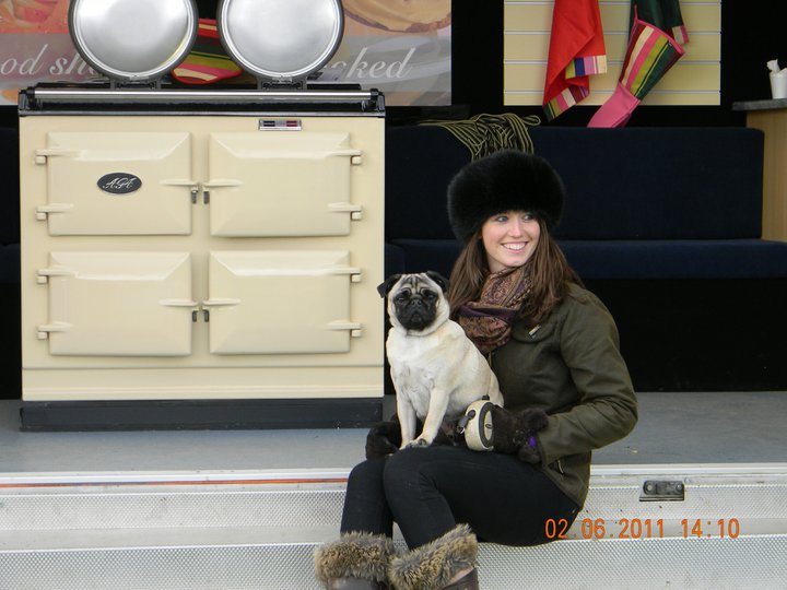 Olivia with Arnie the pug!