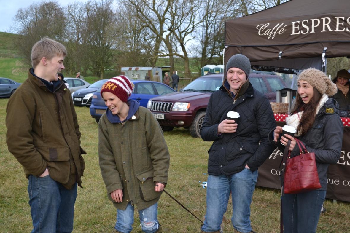 One of these four has just said something incredibly funny! L-R Sam Davies-Thomas, Georgie Armstrong, Tom Ellis & Mary Mason