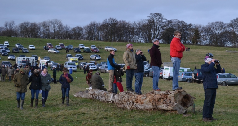 Point-to-Point courses have many vantage points and these racegoers  have bagged a prime spot