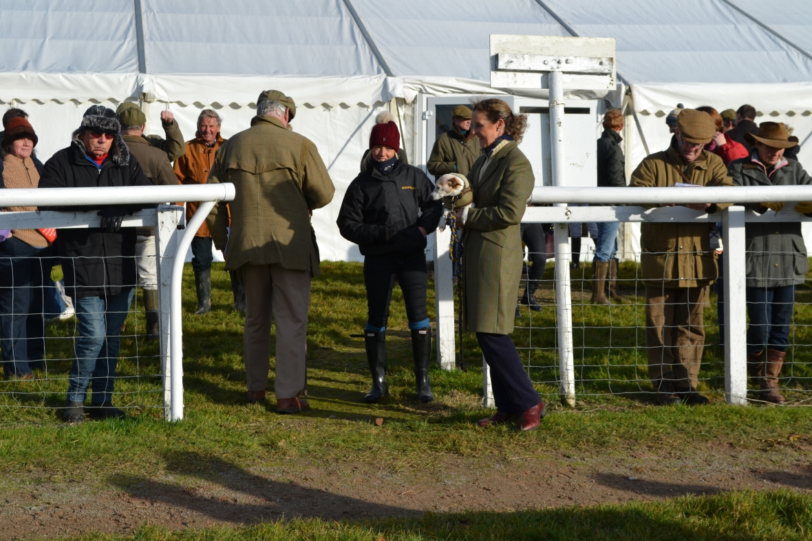 PPA Board Member, Heather Kemp is doing a spot of dog sitting for Laura Horsfall (bobble hat)