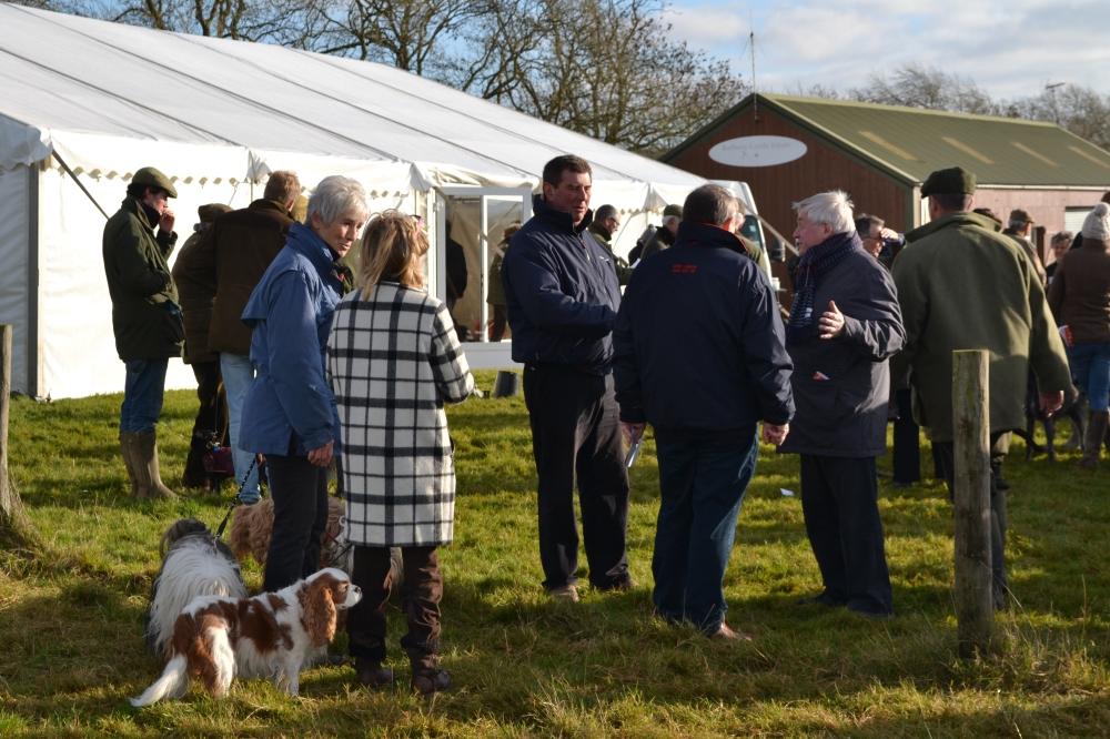 Barbury Castle Estate owner Nigel Bunter (centre, blue jacket)