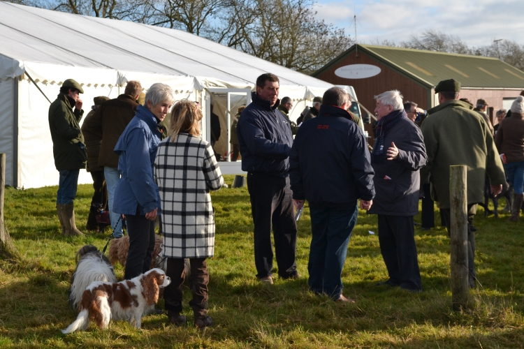 Barbury Castle Estate owner Nigel Bunter (centre, blue jacket)