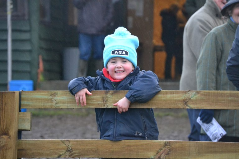 Katie Walton, the youngest (and cutest) person to own an AGA hat has thoroughly enjoyed her day