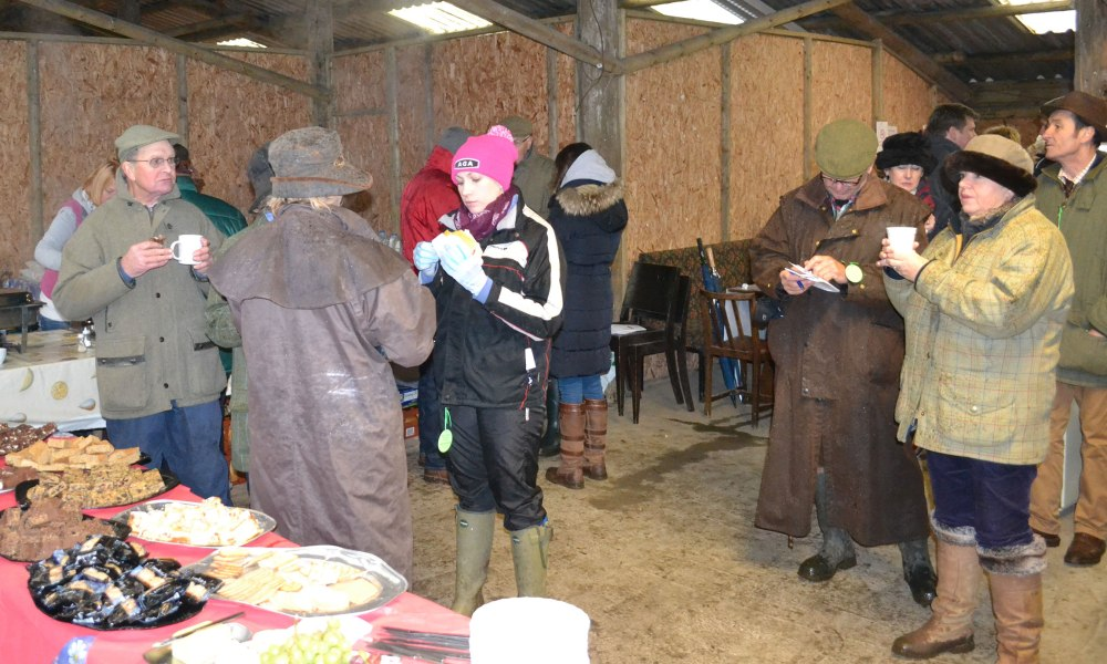 Emily Young (centre, pink hat) is about to tuck into some lunch - I think I may have promised not to use this pic!