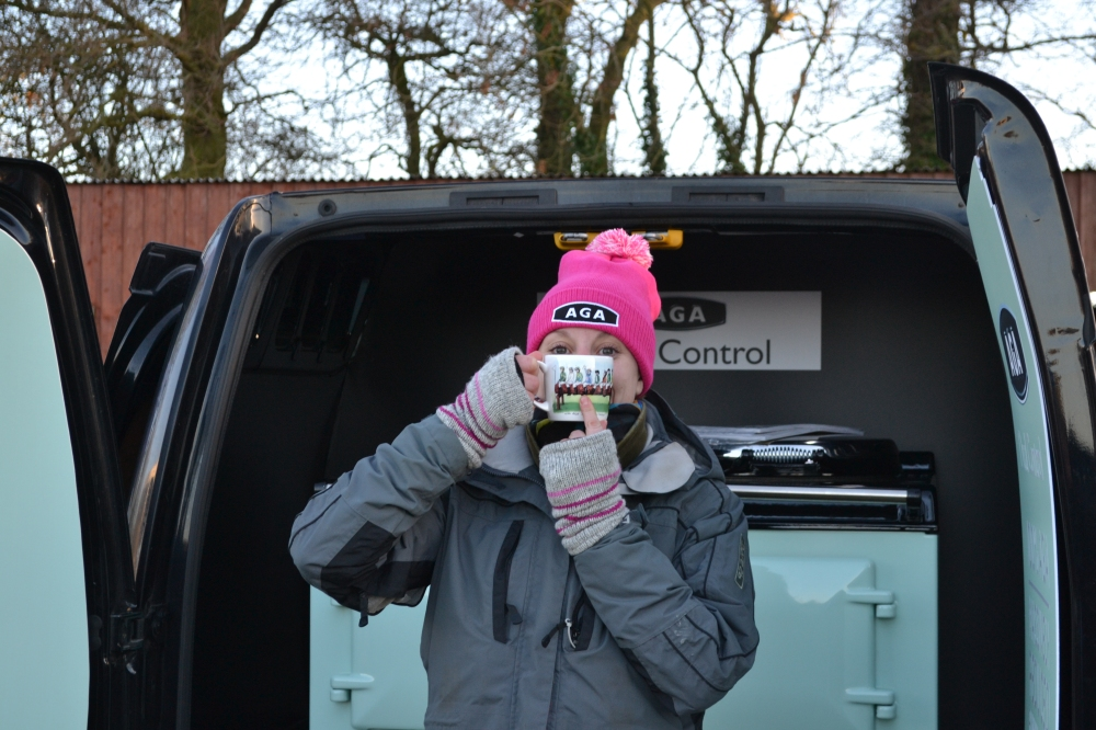 Reigning national champion Jacqueline Coward has just spotted herself on the latest AGA mug