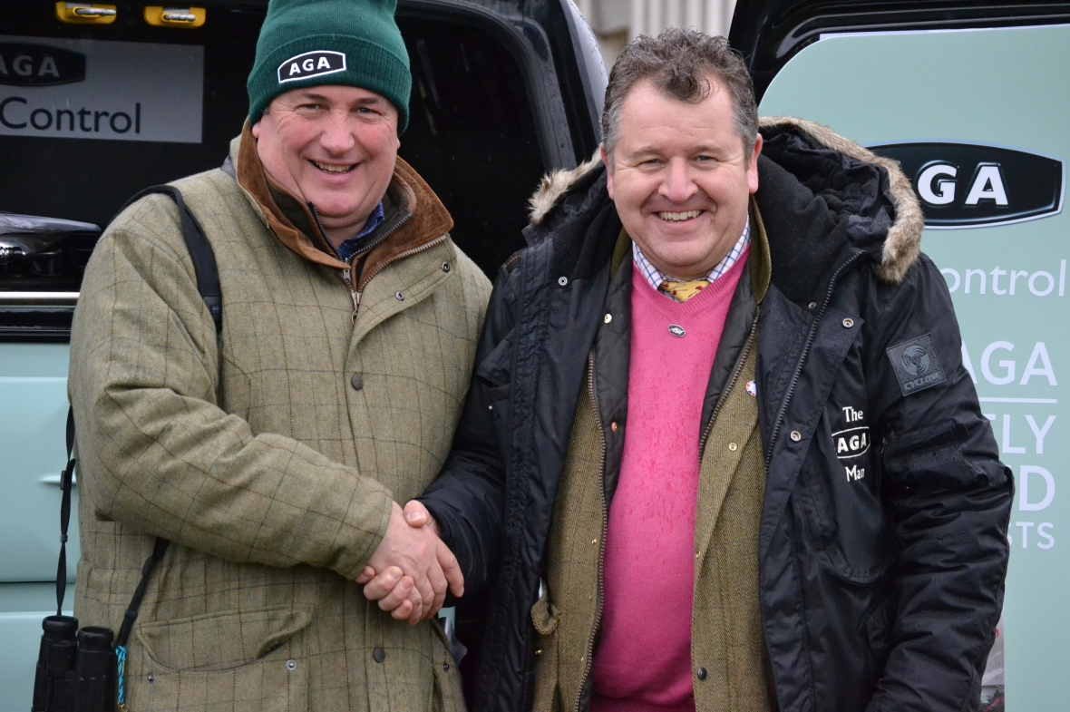 Seven times champion National Hunt trainer Paul Nicholls and David Simpson from AGA
