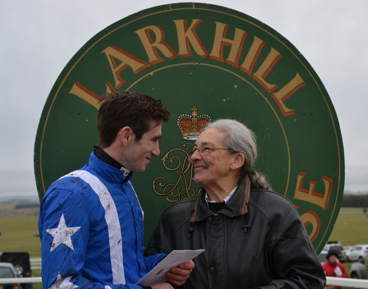 Will Biddick after winning the Larkhill Racing Club Members Conditions race