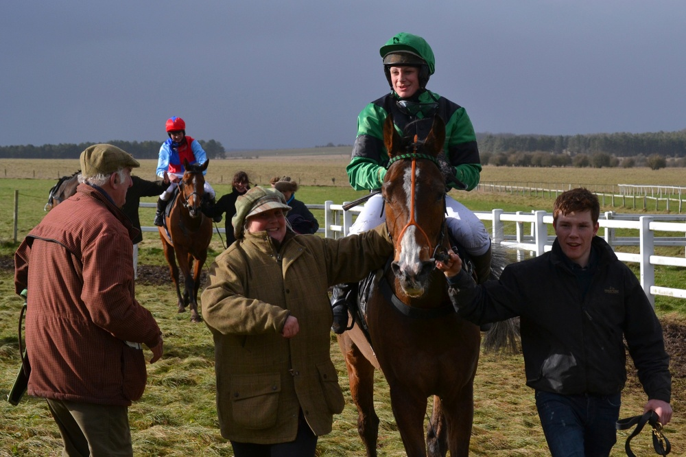 2nd placed Boomtown Kat returns to the winners enclosure
