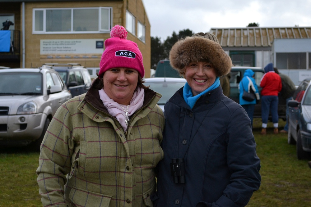 Double trouble! One of these lovely ladies is bringing some cheese to Badbury Rings for me ... I hope she remembers!
