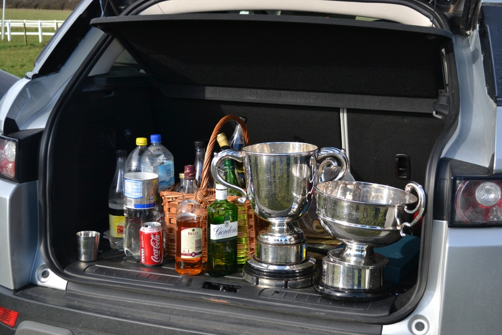 The-RN-Perpetual-Challenge-Cup-&-the-Earl-Haig-Cup-in-the-boot-of-the-Barber-car