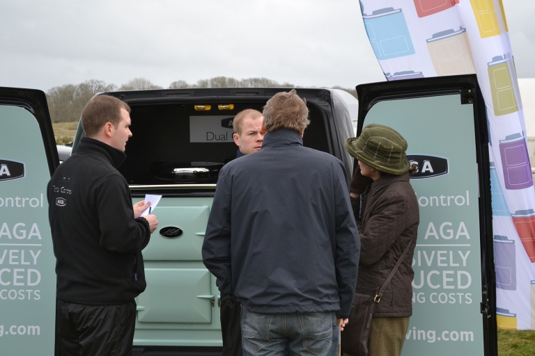 Dan and Mark had a steady stream of visitors to the AGA van