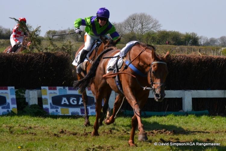 Jodie had to avoid a loose horse (Teenage Kicks) at the last