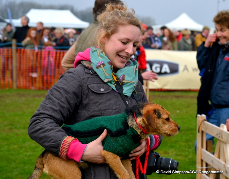 Jo Mason's dog Pixie was in the capable hands of her sister, Laura