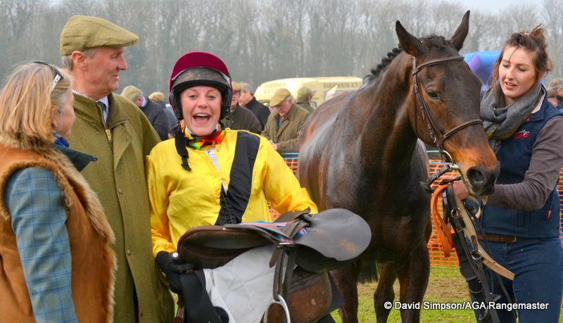 National Champion Jacqueline Coward celebrates with Bella Sowray