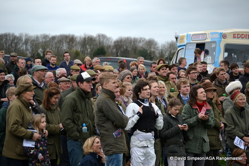 Harry Bannister had a good spot right in the front row ...
