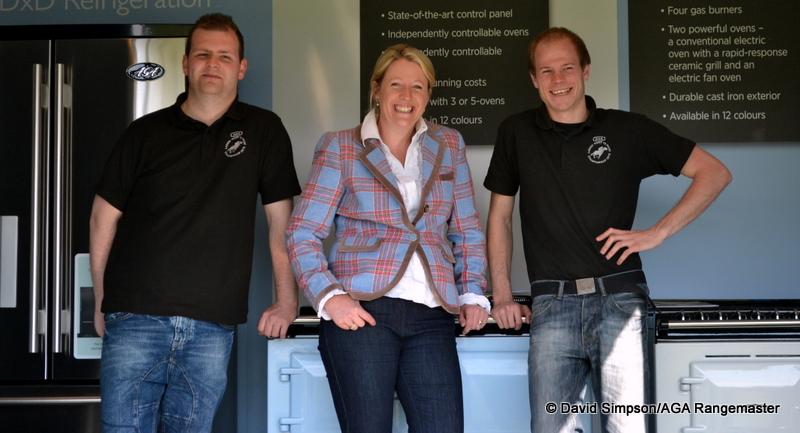 The AGA boys with Great British Bake Off Finalist, Miranda Gore Browne