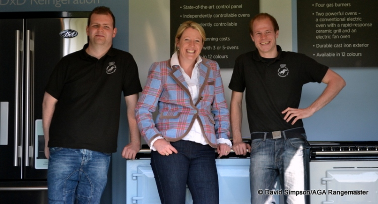 The AGA boys with Great British Bake Off Finalist, Miranda Gore Browne