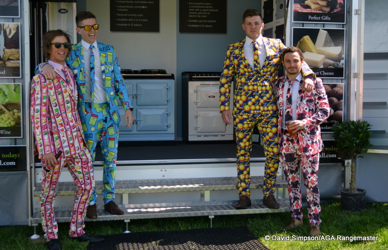 The boys from Wacky Suits were among the first visitors to the AGA stand