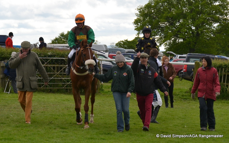 Joe is still animated as Oaksi is led in to the winners enclosure