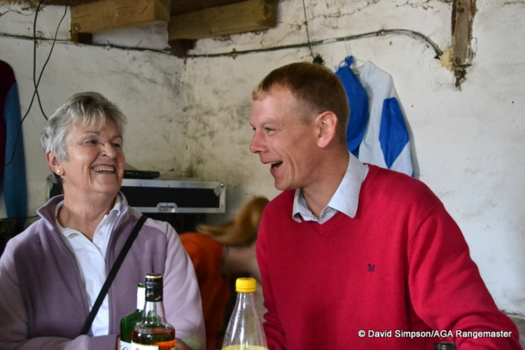 Carolyn and Dickie - one of them was in charge of the gin!