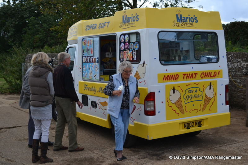 If you want to see the AGA man run then tell him there is an ice cream van nearby!