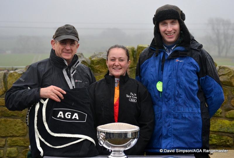 Another AGA jacket for Catherine! L-R: Ron Lillie (AGA), Catherine Walton & Grant Lillie (AGA)