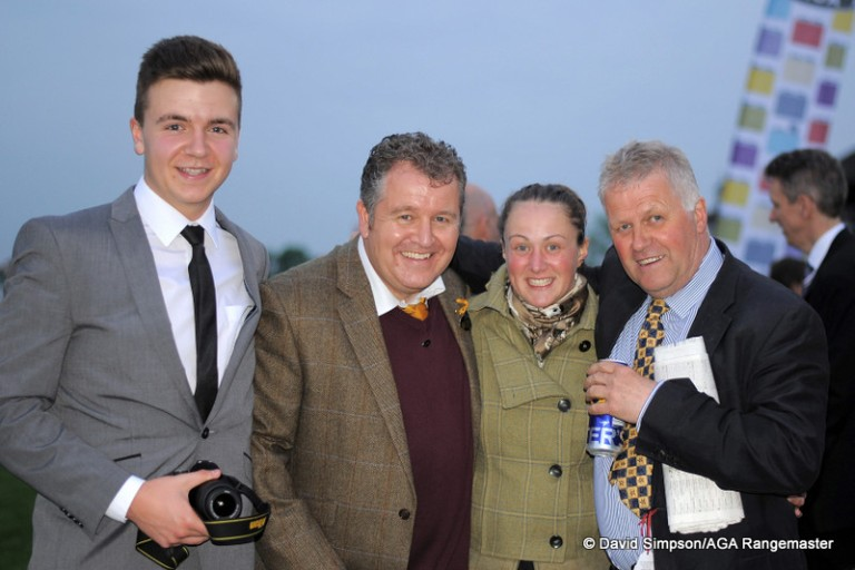 And still smiling, this time with my son, Bradley, and Frankie Walton (quite a character)