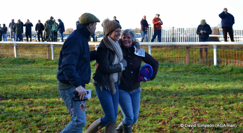 Sarah Dawson knows how to celebrate a winner, and it's infectious!