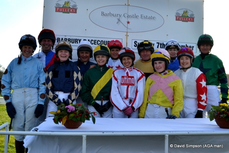 The jocks line up before the IJF charity race