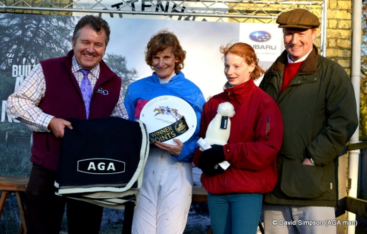 5 wins in AGA sponsored races for Mrs Rucker, and 3 in a row at Cottenham for Sagalyrique (2012/13 & 14)