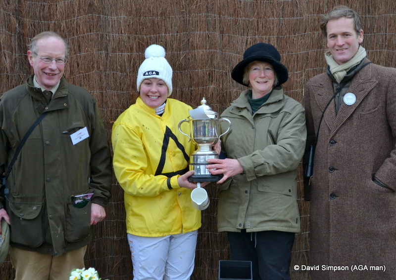 I can't resist one more, this time featuring the winning rider, Claire Hart, who is off the mark for the season (and she got a fabulous reception from her fan club!)