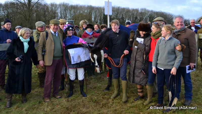 This win in the Ladies Open took Gina back to the top of the AGA championship table, it was a poignant moment for connections of Berties Dream as Gina was wearing the silks of the late Christopher Sporborg