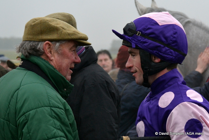 Some wise words from Mr Barber for the champ... or were they discussing my choice of music?