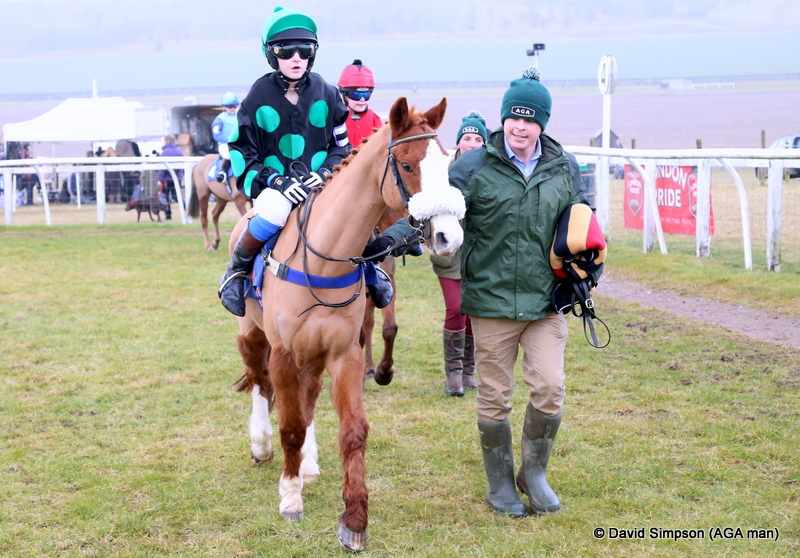 Pony racing and AGA hats, a great mix