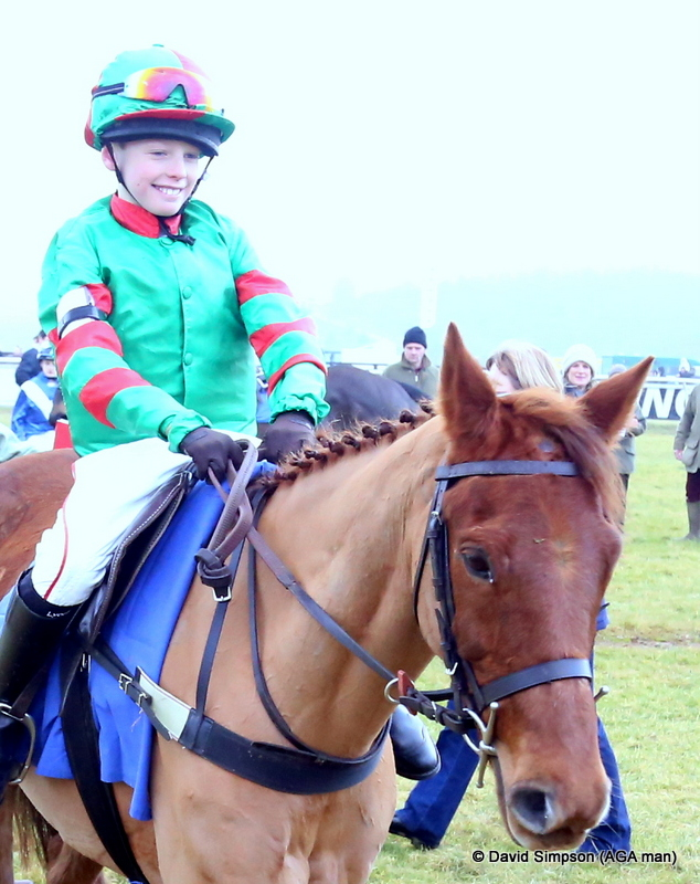 Elliot England, winner of the 138cm and under pony race