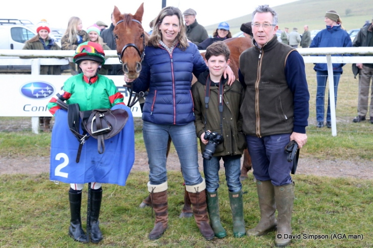 If you follow National Hunt racing (especially at Cheltenham) there is a familiar face on the right of this photo...