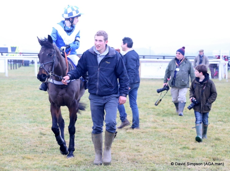 The pair make their way to the winners enclosure
