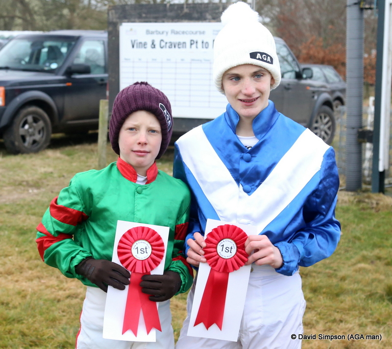This photo of the two winners was featured in Go Pointing (Been Pointing)