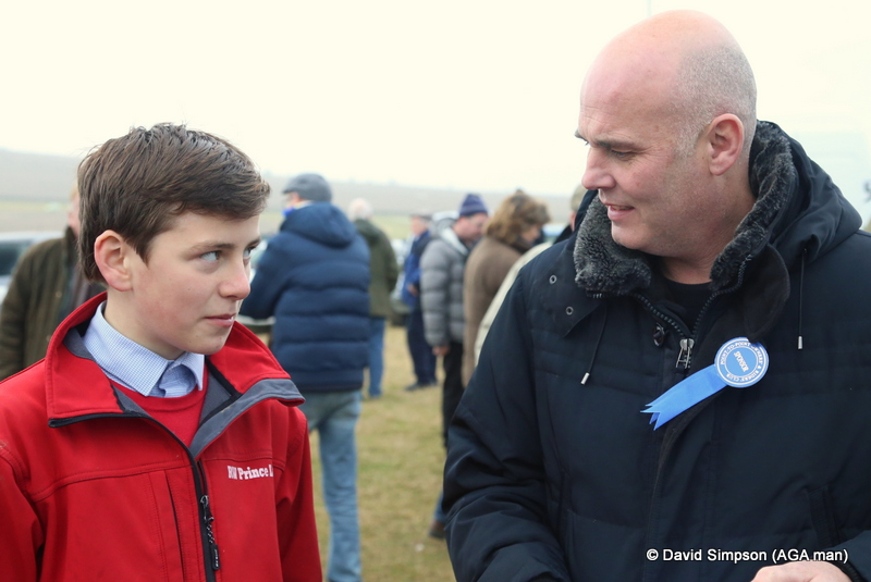 Derek Martin (right) spent two years on the road with me and he drove the AGA van to all four corners of the UK, here he catches up with pony rider, Liam Harrison