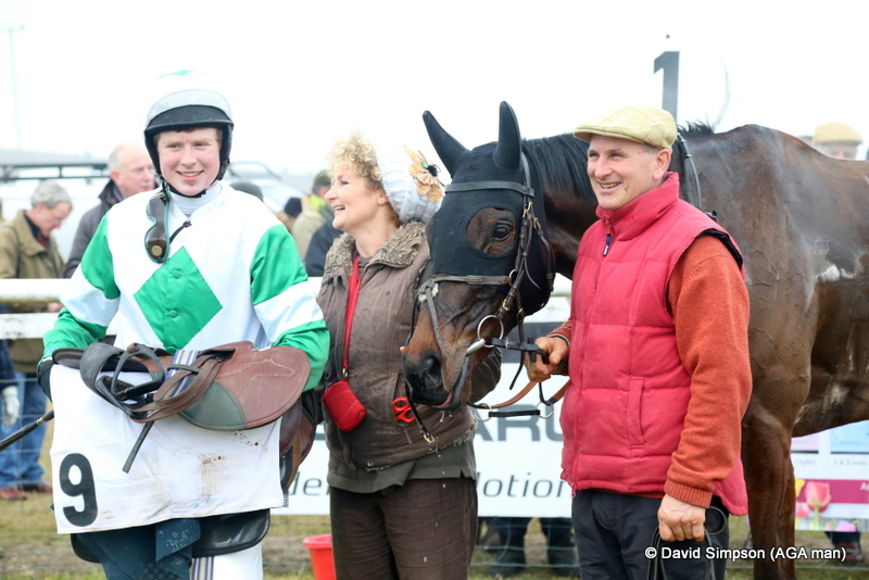 Lotus Pond and connections after winning the Barbury International Horse Trials Open Maiden
