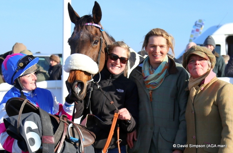 My Flora was a tidy 10 length winner of the AGA sponsored ladies open and this lot were quite pleased!