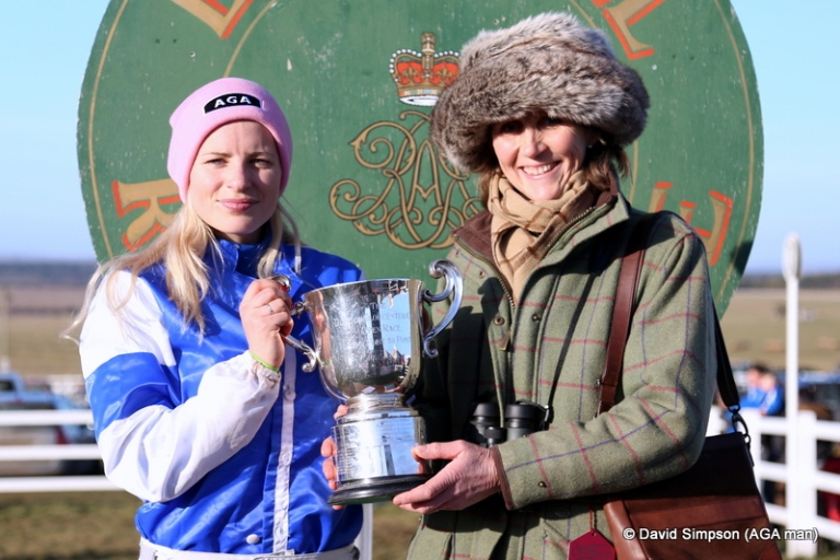 26 year old Olivia Lamphee opened her account when taking the Jockey Club Mares' Maiden on her own Kayf Collateral